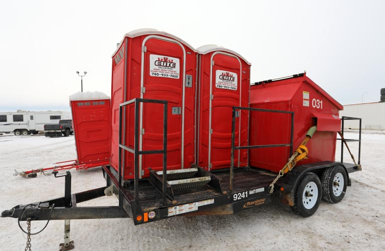 Elite Vac & Steam, Grande Prairie, AB, Toilet and Garbage Combo Trailer