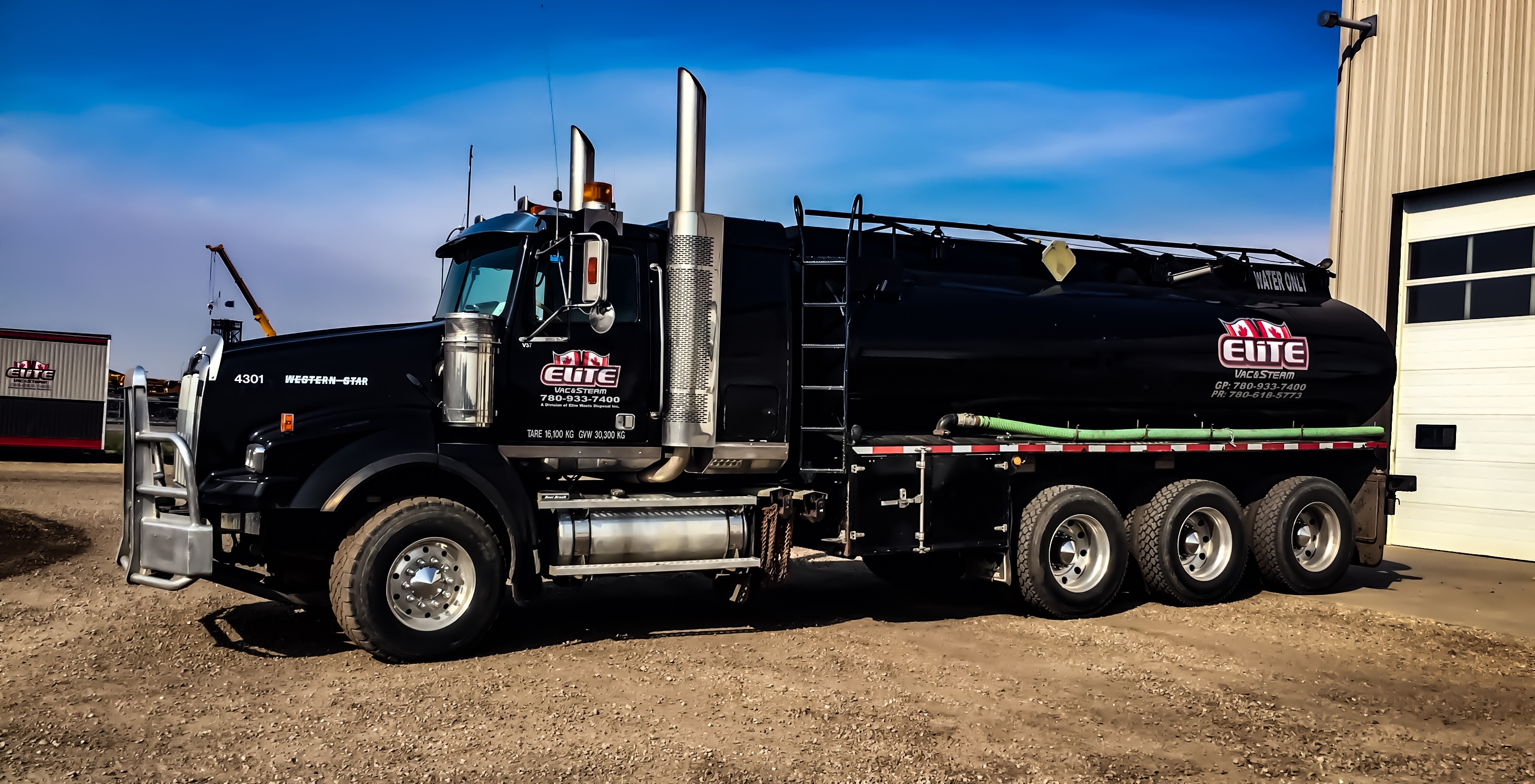 Elite Vac & Steam Tridem Water Truck 4301 Clairmont, AB
