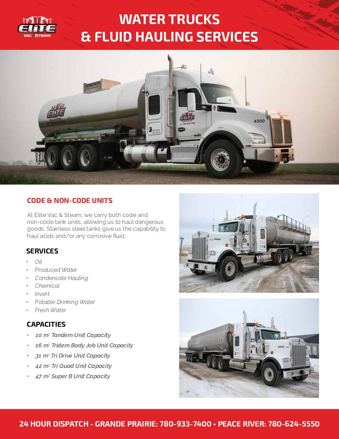 Elite – Water Trucks & Fluid Hauling Services